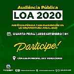 Audiência Pública para elaboração da Lei Orçamentária Anual 2020