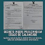 Prefeito Carlos Veriano decreta Estado de Calamidade na Saúde, Educação e Assistência Social do município de Parazinho